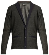 Kolor Peak-lapel Wool-blend Cardigan