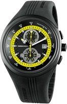 MOMO Design MD1003BK-03YWBK-RB 46mm Stainless Steel Case Black Rubber Mineral Men's Watch