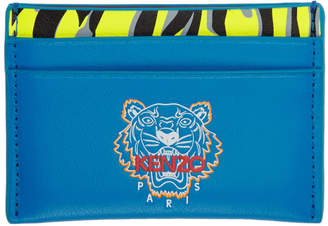 Kenzo Blue Tiny Tiger Card Holder
