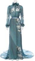 Luisa Beccaria 2016 Silk Floral Gown