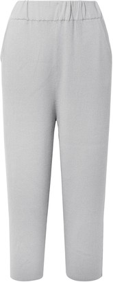 Sally LaPointe Ribbed Cashmere-blend Culottes