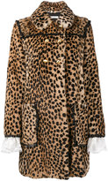 Philosophy Di Lorenzo Serafini double breasted leopard print coat