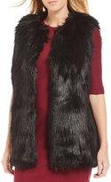 Armani Exchange Faux Fur Zip Front Vest