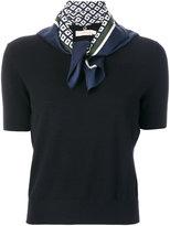 Tory Burch Gabby knitted T-shirt - women - Silk/Merino - XS