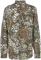 Roberto Cavalli leopard paisley print shirt