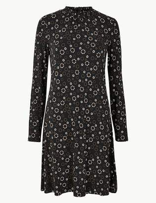 M&S CollectionMarks and Spencer Floral Jersey Knee Length Swing Dress