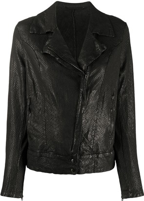 Salvatore Santoro Embossed Style Side Zip Jacket