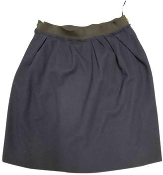 Lanvin Blue Wool Skirt for Women