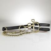 Tri-Strap Leather Bit Belt