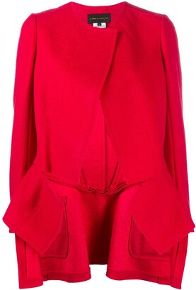 Comme des Garcons Long-Sleeved Raw Edge Coat