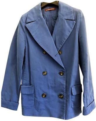 Comptoir des Cotonniers Blue Cotton Trench coats