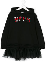 MSGM logo embroidered hooded dress