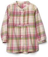 Gap Watermelon plaid button tunic