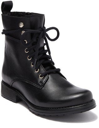 Steve Madden Bobbi Leather Combat Boot