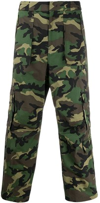 Juun.J Camouflage Cargo Trousers