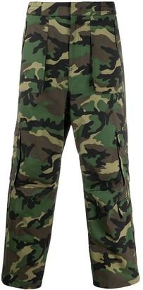 Juun.J camouflage cargo trousers