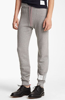 Thom Browne Cotton Terry Sweatpants Light Grey 5