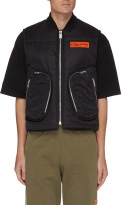 Heron Preston Zipped pockets nylon puffer vest