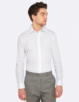 Oxford Stretch Travel Shirt with White Buttons
