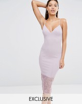 Missguided Lace Hem Midi Dress