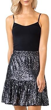 Belldini Sequin Ruffle Hem Skirt