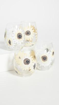 Shopbop @Home Set of 4 Sunflower Stemless Wineglasses