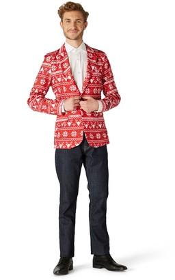 Nordic Men's Suitmeister Christmas Red Blazer