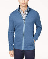 Tasso Elba Men's Herringbone Full-Zip Knit Sweater, Created for Macy's