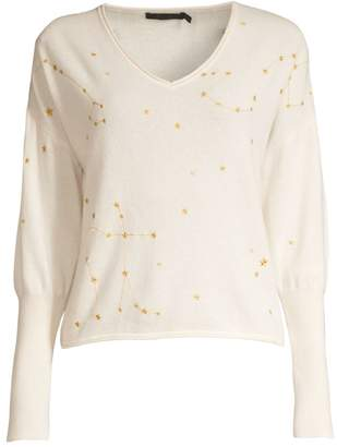 Raffi Constallation Puff-Sleeve Cashmere Sweater
