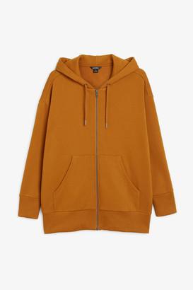 Monki Oversized zip hoodie