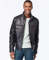 Michael Kors Men's Big & Tall Leather Jacket