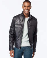 MICHAEL Michael Kors Men's Big and Tall Leather Bomber Jacket