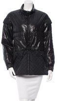 Chanel Leather-Trimmed Padded Jacket