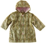 IM Link Pluie Pluie Toddler Girls Plaid Lined Raincoat Outerwear 12M