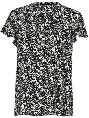 Oasis Curve Smudge Print Top