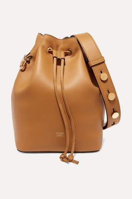 Fendi Mon Trésor Leather Bucket Bag - Tan
