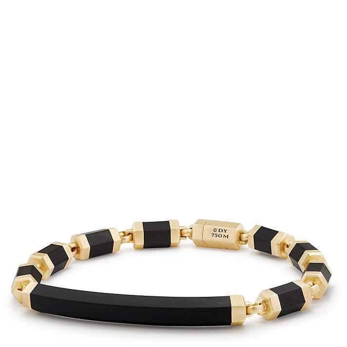 David Yurman Men's Hex ID Bracelet with 18K Gold