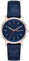 DKNY Women's Soho 34mm Leather Band Steel Case Quartz Analog Watch Ny2604