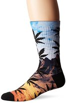 HUF Men's Flavor Cty Plantlife Crew Sock