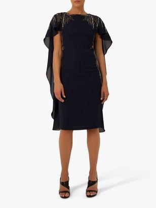 Raishma Eva Sequin Detail Cape Dress