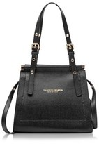 Francesco Biasia Women's Black Leather Shoulder Bag.