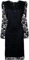 Lanvin draped lace detail dress - women - Polyamide/Polyester/Viscose - 36