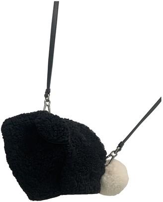 Loewe Animals Black Shearling Handbags