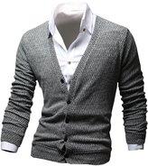 Wizikorea Men's Gradation Knit Cardigan NR208G GRA XL