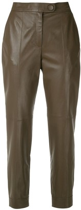 Egrey Leather Cropped Trousers