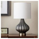 Threshold Ridged Glass Gourd Table Lamp - Dark Gray