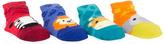 Cutie Pie Baby Red Zebra & Blue Lion Four-Pair Socks Set
