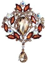 Bai You Mei Womens Brooch Pin With Fashion Jewelry Fancy Vintage Rhinestone Bling Crystal Flower