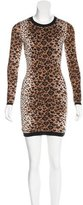 RED Valentino Wool-Blend Patterned Dress