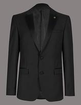 Autograph Black Tailored Fit Italian Wool Jacket